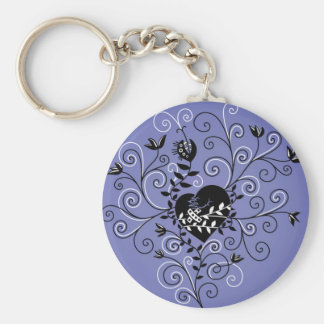Dark Gothic Abstract Whimsical Fixed Broken Heart Keychain