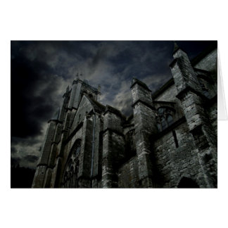 Dark gothic cathedral card