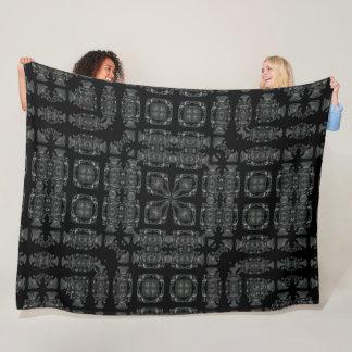 Dark Gothic Skulls Silk Foulard Mandala Fleece Blanket