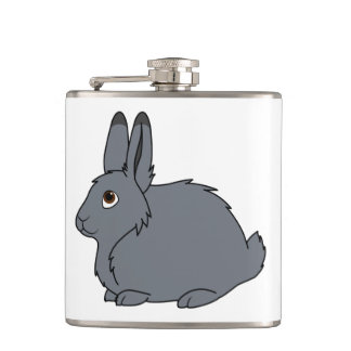 Dark Gray Arctic Hare Flasks