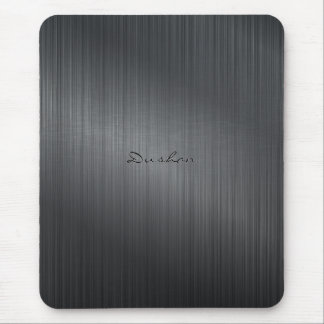 Dark Gray Brushed Metal Look Mouse Pad