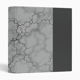 Dark Gray Marble Vinyl Binder