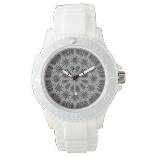 Dark Gray Mosaic Pattern Watch