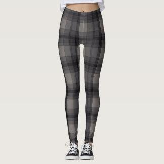 Dark Gray Plaid Leggings