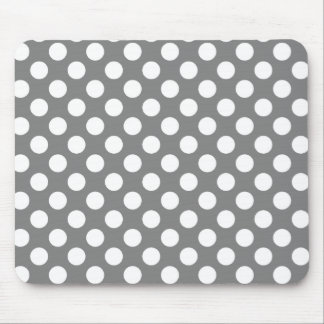 Dark Gray Polka Dots Mouse Pad