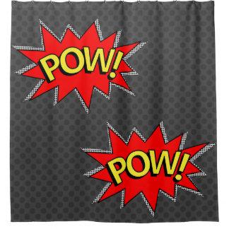 "Dark Gray - ""POW!"" ""POW!""Comic Book Superhero"