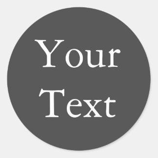 Dark Gray Wedding Envelope Seals with Custom Text