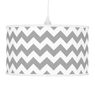 Dark Gray White Chevron Zig-Zag Pattern Ceiling Lamps
