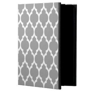 Dark Gray White Moroccan Quatrefoil Pattern #4 Powis iPad Air 2 Case