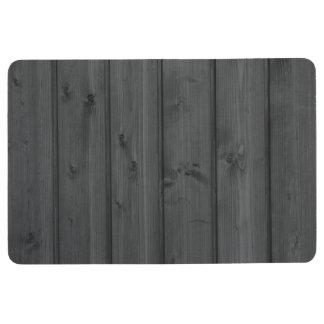 Dark Gray Wood Texture Floor Mat