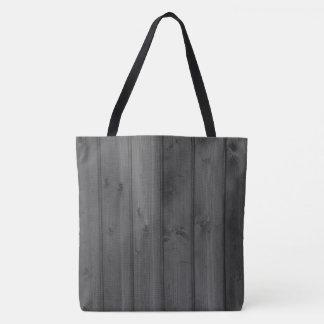 Dark Gray Wood Texture Tote Bag