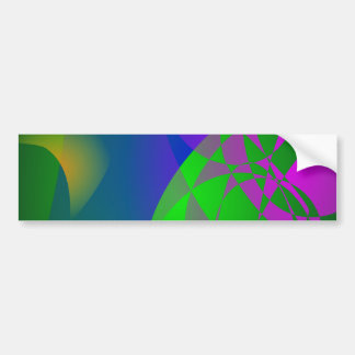 Dark Green Abstract Painting Bumper Sticker