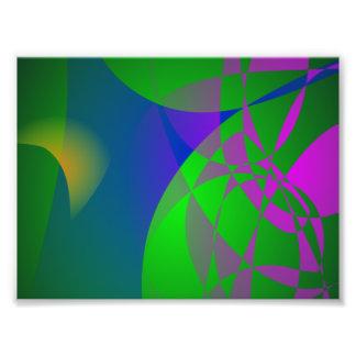 Dark Green Abstract Painting Photograph