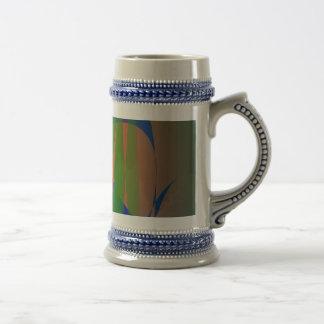 Dark Green and a Flame Coffee Mug
