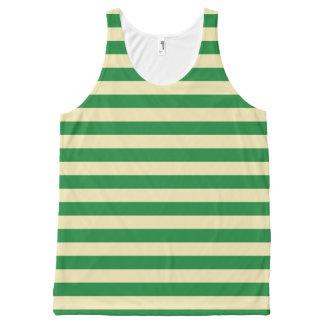 Dark Green and Beige Stripes