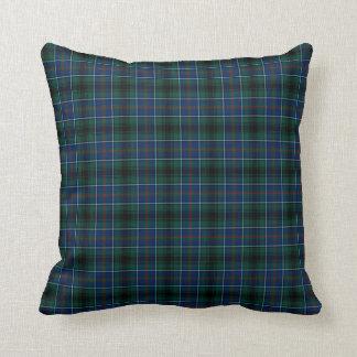 Dark Green and Blue Clan Innes Hunting Tartan Throw Pillow
