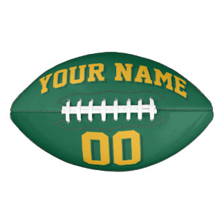 DARK GREEN AND GOLD Custom Football