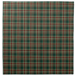Dark Green and Maroon Christmas Plaid Pattern Napkin