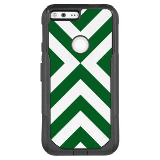 Dark Green and White Chevrons OtterBox Commuter Google Pixel XL Case