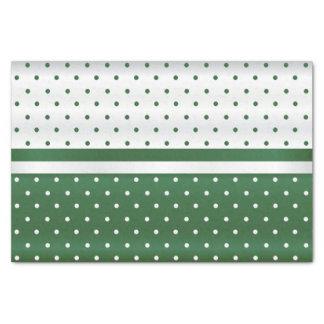 Dark Green and White Polka Dots Design Tissue Paper