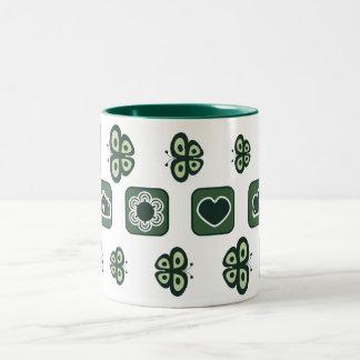 dark green baby shower gift mug
