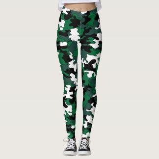 Dark Green Camo Leggings