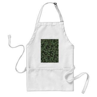 Dark Green Camouflage Pattern Standard Apron