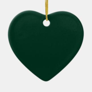Dark Green Ceramic Heart Ornament