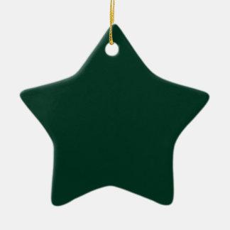 Dark Green Ceramic Star Ornament