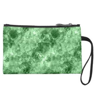 Dark Green Crumpled Texture Wristlets