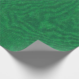 Dark Green Denim Texture Wrapping Paper