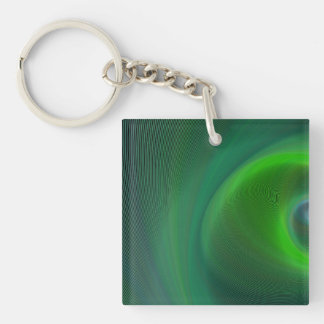 Dark green dream Double-Sided square acrylic keychain