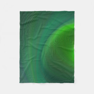 Dark green dream fleece blanket