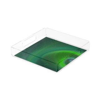Dark green dream serving tray