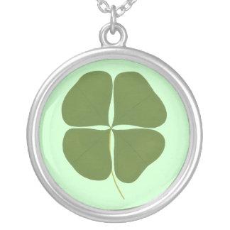 Dark Green Four Leaf Clover Necklace