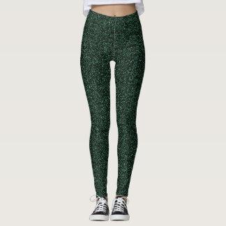 Dark green glitter effect leggings