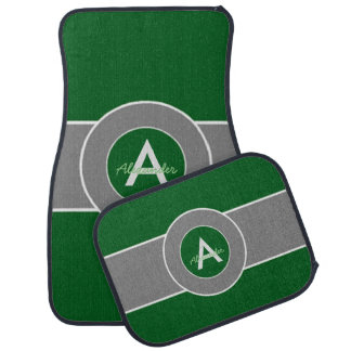 Dark Green Gray Car Mat