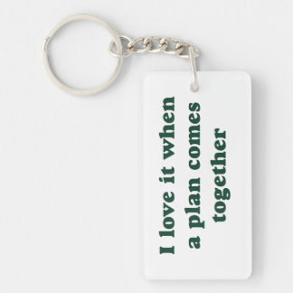 Dark Green I Love It Single-Sided Rectangular Acrylic Keychain