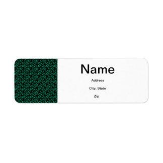 Dark Green Leaf Pattern Return Address Labels