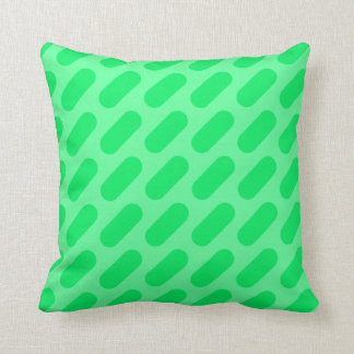 Dark Green & Light Green Dashes Throw Pillow