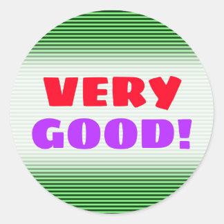 Dark Green & Light Green Stripes/Lines Pattern Classic Round Sticker