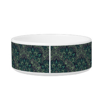 Dark green mandala pattern. bowl