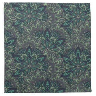 Dark green mandala pattern. napkin