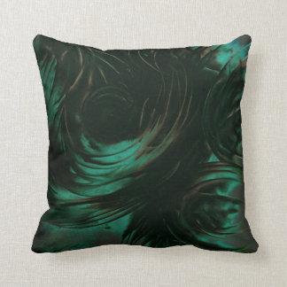 Dark Green Mystic Art Pillow