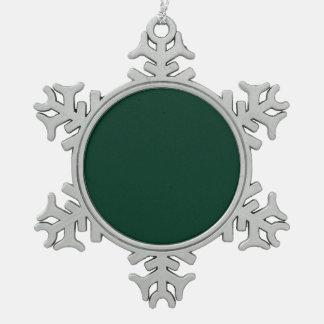 Dark Green Pewter Snowflake Ornament