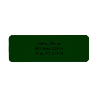 Dark Green Return Address Label