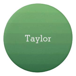 Dark Green Shades Horizontal Stripes Youthful Eraser