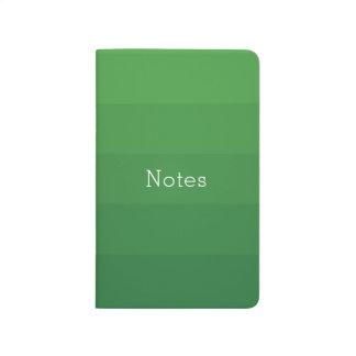 Dark Green Shades Horizontal Stripes Youthful Journal