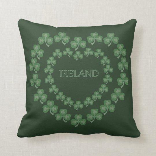 Dark Green Shamrock Pillow