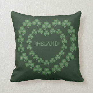 Dark Green Shamrock Pillow